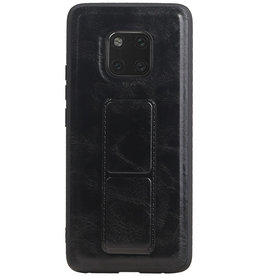 Grip Stand Hardcase Backcover for Huawei Mate 20 Pro Black