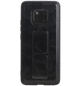 Grip Stand Hardcase Backcover voor Huawei Mate 20 Pro Zwart