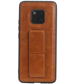 Grip Stand Hardcase Backcover for Huawei Mate 20 Pro Brown