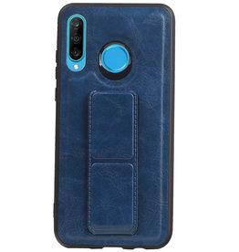 Grip Stand Hardcase Backcover für Huawei P30 Lite / Nova 4E Blau