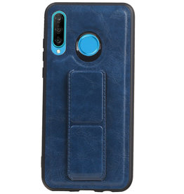 Grip Stand Hardcase Backcover voor Huawei P30 Lite / Nova 4E Blauw