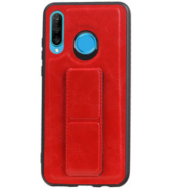 Grip Stand Hardcase Backcover voor Huawei P30 Lite / Nova 4E Rood