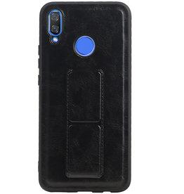 Grip Stand Hardcase Backcover voor Huawei Nova 3 Zwart