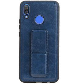 Grip Stand Hardcase Backcover voor Huawei Nova 3 Blauw