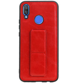 Grip Stand Hardcase Backcover for Huawei Nova 3 Red
