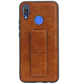 Grip Stand Hardcase Backcover for Huawei Nova 3 Brown