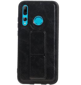 Grip Stand Hardcase Backcover für Huawei P Smart Plus Schwarz