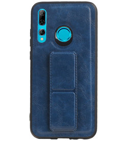 Grip Stand Hardcase Backcover voor Huawei P Smart Plus Blauw