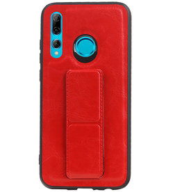 Grip Stand Hardcase Backcover for Huawei P Smart Plus Red