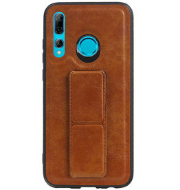 Grip Stand Hardcase Backcover for Huawei P Smart Plus Brown