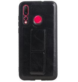 Grip Stand Hardcase Backcover for Huawei Nova 4 Black