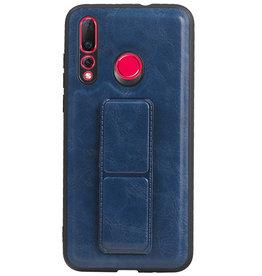 Grip Stand Hardcase Backcover für Huawei Nova 4 Blue