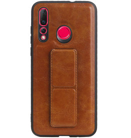 Grip Stand Hardcase Backcover für Huawei Nova 4 Brown