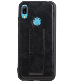 Grip Stand Hardcase Backcover for Huawei Y6 2019 Black