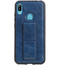 Grip Stand Hardcase Backcover for Huawei Y6 2019 Blue