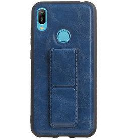 Grip Stand Hardcase Backcover für Huawei Y6 2019 Blau