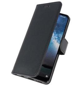 Bookstyle Wallet Cases Cover für Nokia 2.2 Schwarz