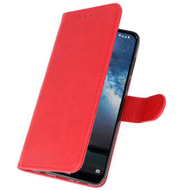 Bookstyle Wallet Cases Cover for Nokia 2.2 Red