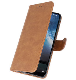 Bookstyle Wallet Cases Cover for Nokia 2.2 Brown