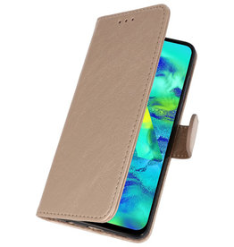 Bookstyle Wallet Cases Case for Samsung Galaxy M40 Gold