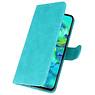 Bookstyle Wallet Cases Hoesje voor Samsung Galaxy M40 Groen