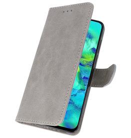 Bookstyle Wallet Cases Hülle für Samsung Galaxy M40 Grau