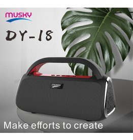 Musky Bluetooth Speaker DY-18 Rood
