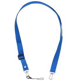 Schouder / Nek Touwtjes voor Hoesjes of Badge Donker Blauw