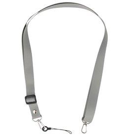 Schulter- / Nackenseile für Koffer oder Abzeichen grau