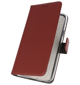 Wallet Cases Hülle für Samsung Galaxy A10s Brown
