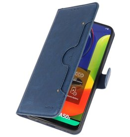 Luxury Wallet Case for Samsung Galaxy A50 Navy