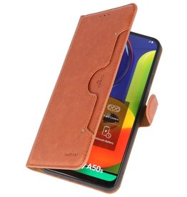 Luxury Wallet Case for Samsung Galaxy A50 Brown