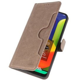 Luxury Wallet Case for Samsung Galaxy A50 Gray