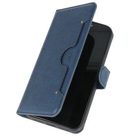 KAIYUE Luxe Portemonnee Hoesje voor iPhone 11 Navy