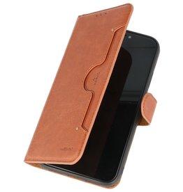KAIYUE Luxe Portemonnee Hoesje voor iPhone 11 Bruin