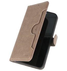 KAIYUE Luxe Portemonnee Hoesje voor iPhone 11 Pro Grijs