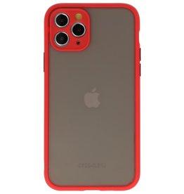 Kleurcombinatie Hard Case voor iPhone 11 Pro Rood