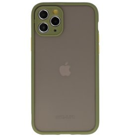 Color combination Hard Case for iPhone 11 Pro Green