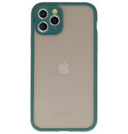 Kleurcombinatie Hard Case voor iPhone 11 Pro Donker Groen