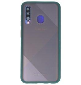 Color combination Hard Case for Galaxy A50 Dark Green