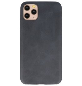 Leder Design TPU Hülle für iPhone 11 Pro Max Black
