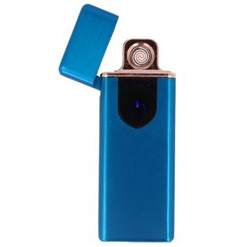 Touch Screen Electrically rechargeable lighter Blue