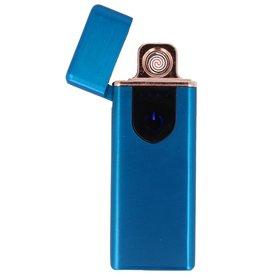 Touchscreen Elektrisch aufladbares Feuerzeug Blau