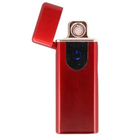 Touch Screen Electric rechargeable lighter Red