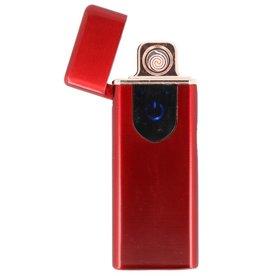 Touchscreen Elektrisches wiederaufladbares Feuerzeug Rot