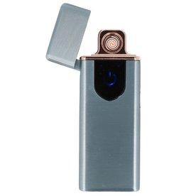 Touchscreen Elektrisch aufladbares Feuerzeug Grau
