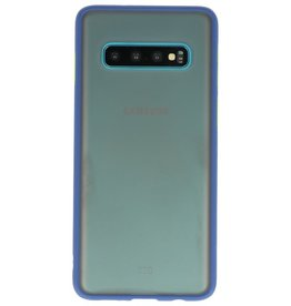 Color combination Hard Case for Galaxy S10 Blue