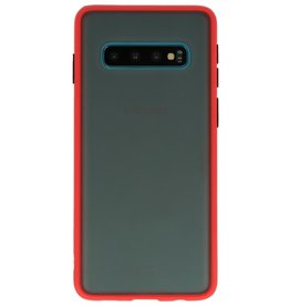 Color combination Hard Case for Galaxy S10 Red