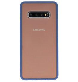 Kleurcombinatie Hard Case voor Galaxy S10 Plus Blauw