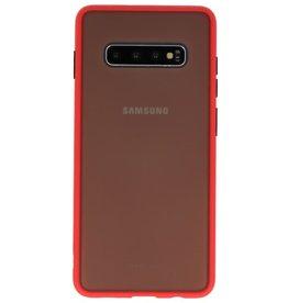 Kleurcombinatie Hard Case voor Galaxy S10 Plus Rood